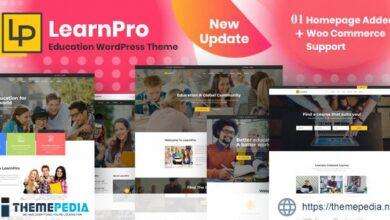 LearnPro – Online Course Education WordPress Theme [Free download]