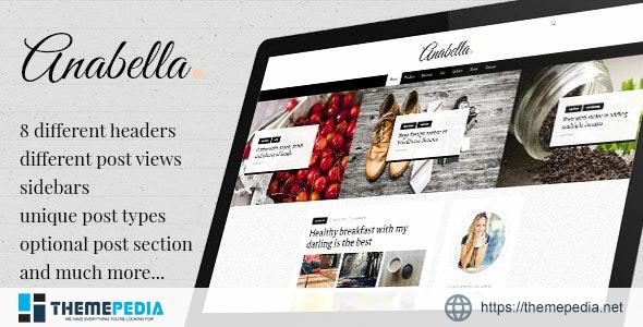 ANABELLA – Personal Blog-News WordPress Theme [Updated Version]