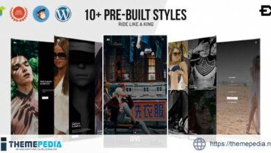 Dive – One Page Portfolio WordPress Theme [Free download]