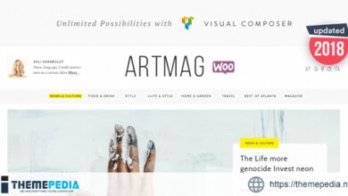 Artmag Magazine & Shop WordPress Theme [nulled]