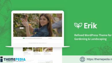 Erik – Refined WordPress Theme for Gardening & Landscaping [Free download]