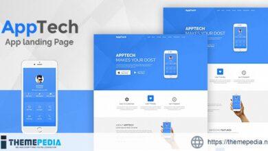 AppTech – App Landing Page WordPress Theme [Free download]