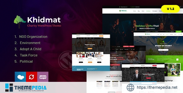 Khidmat – Multipurpose Nonprofit WordPress Theme [Free download]