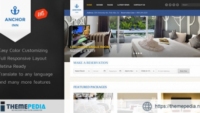 Anchor Inn – Hotel and Resort Theme [Free download]