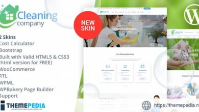 Cleaning Services WordPress Theme + RTL [Free download]