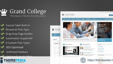 Grand College – Wordpress Theme For Education [Free download]