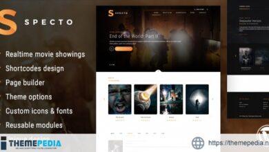 Specto – Cinema WordPress Theme [Free download]
