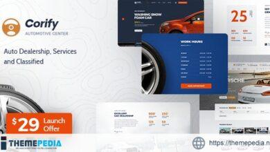 Corify – WordPress Car Listings & Dealership Theme [Free download]