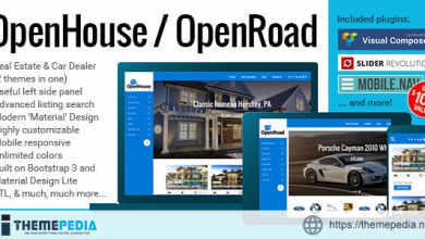 OpenHouse Real Estate and OpenRoad Car Dealer Responsive Material WordPress Theme [Latest Version]