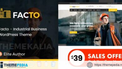 Facto – Industrial Business WordPress Theme [nulled]