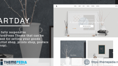 Artday – Creative Artist WordPress Shop [Free download]