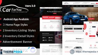 Auto CarForYou – Responsive Car Dealer WordPress Theme [Free download]