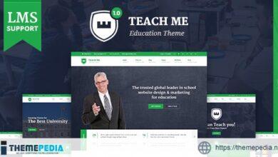 TeachMe – WordPress Theme for Schools [Free download]