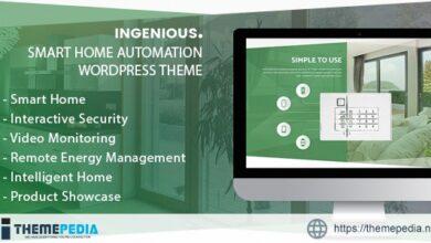 Ingenious – Smart Home Automation WordPress Theme [Free download]