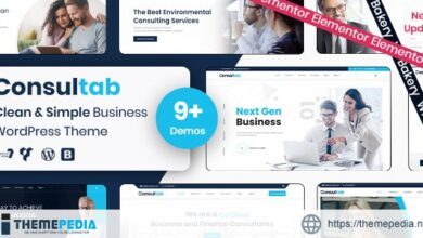 Consultab – Consulting Business & Finance WordPress Theme [Free download]