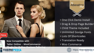 Alteration Shop – WordPress WooCommerce Theme for Tailors [Free download]