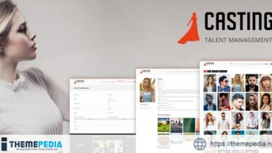 Casting -Responsive Model Agency WordPress Theme [Free download]