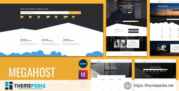 Hosting WordPress theme with WHMCS – MegaHost [Free download]