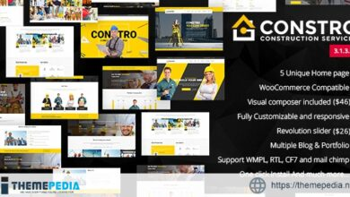 Constro – Construction Business WordPress Theme [Free download]