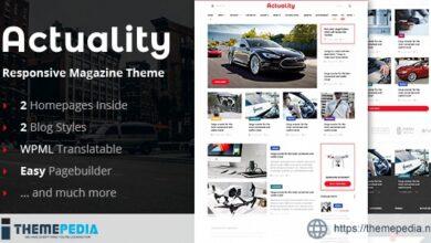 Actuality – Blog & Magazine WordPress Theme [Free download]