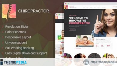 Chiropractor – Therapy and Rehabilitation WordPess Theme [Free download]