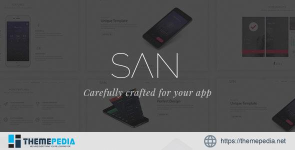 San – Responsive App Landing Page WordPress Theme [Free download]
