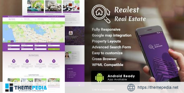 Realest – Real Estate WordPress Theme [Free download]
