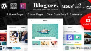 Bloxer – Blog & Magazine WordPress Theme [Free download]