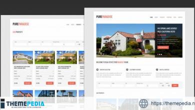 Pure Paradise – Clean Real Estate WordPress Theme [Free download]