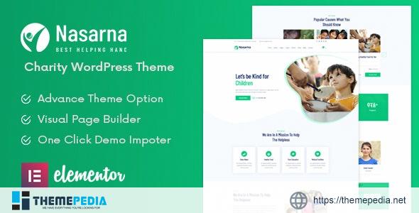 Nasarna – NonProfit Charity WordPress Theme [Free download]