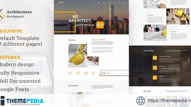 Architecture Development – Modern Constuction WordPress Theme [Free download]