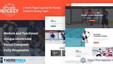 Let's Play – Hockey School & Winter Sports WordPress Theme [Free download]