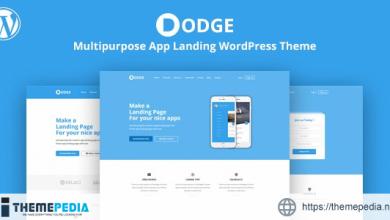 DODGE – WordPress App Landing Theme [Free download]