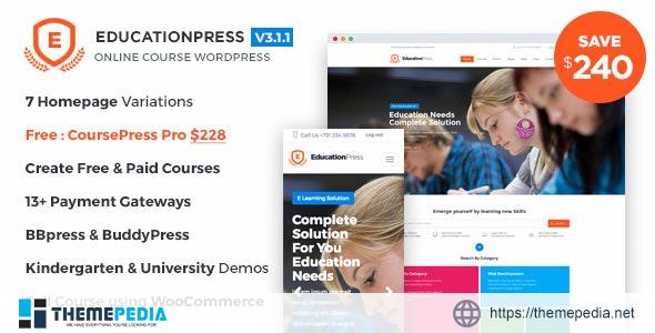 EducationPress – Complete Education WordPress Theme [Updated Version]