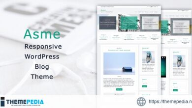 Asme – Responsive WordPress Blog Theme [Free download]