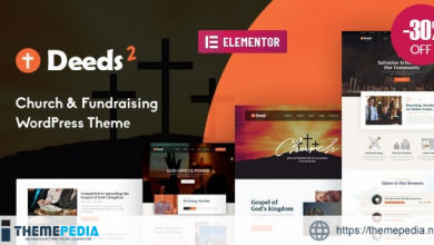 Deeds2 – Religion and Church WordPress Theme [Free download]