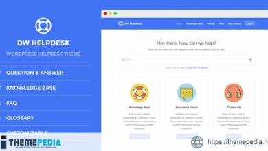 DW Helpdesk – Knowledge Base – Q&A – FAQ WordPress Theme [Free download]