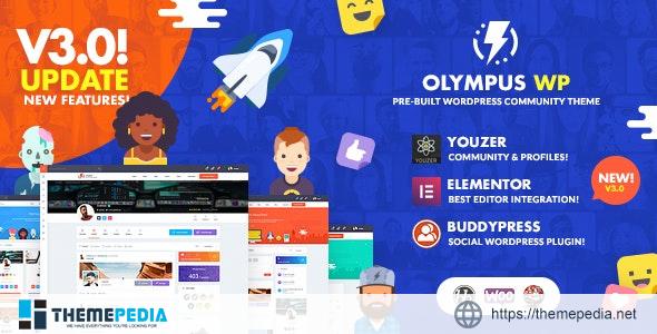 Olympus – Social Networking WordPress Theme [Free download]
