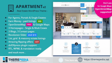 Apartment WP – Real Estate Responsive WordPress Theme for Agents, Portals, Single Property Sites [Free download]