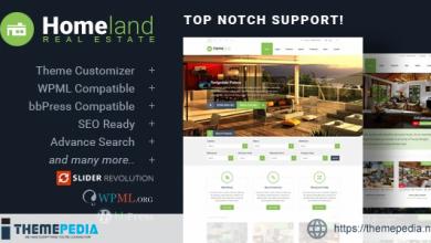 Homeland – Responsive Real Estate Theme for WordPress [Free download]