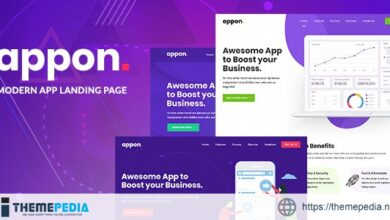 Appon – App & SaaS Software Theme [Free download]