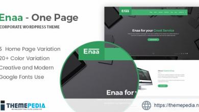 Enaa – One Page Corporate WordPress Theme [Free download]