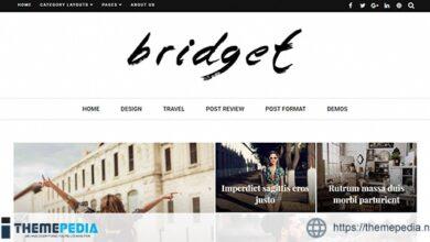 Bridget – Responsive WordPress Magazine and Blog Theme [Free download]