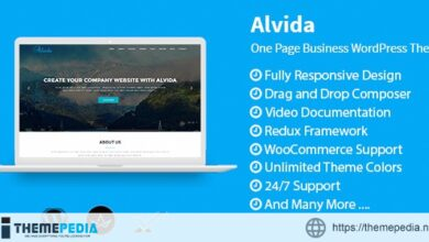 Alvida – One Page Business WordPress Theme [Free download]