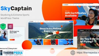 SkyCaptain – Skydiving & Extreme Flying Sports WordPress Theme [Free download]