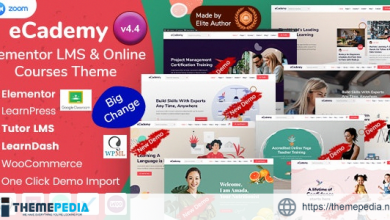 eCademy – Elementor LMS & Online Courses Education Theme [Free download]