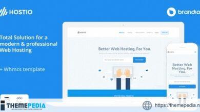 Hostio Web Hosting & WHMCS WordPress Theme [Latest Version]