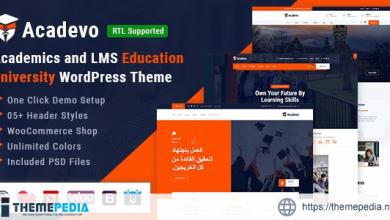 Acadevo – Academics and Education LMS WordPress Theme [Updated Version]