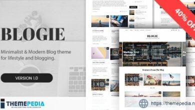 Blogie – Minimalist WordPress Blog theme [Free download]