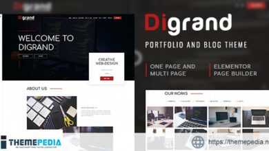 Digrand – Portfolio And Blog Theme [Free download]